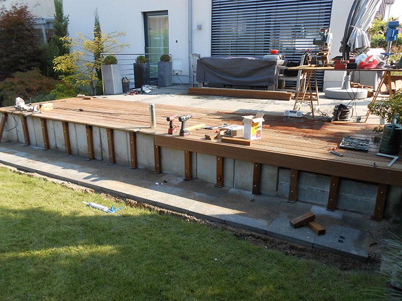 terrassenbau holz garten landschaftsbau. Black Bedroom Furniture Sets. Home Design Ideas